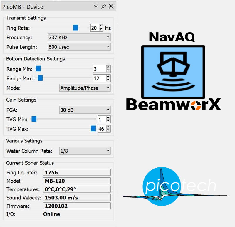 BeamworX Software Fully Integrated with PicoMB Multibeam